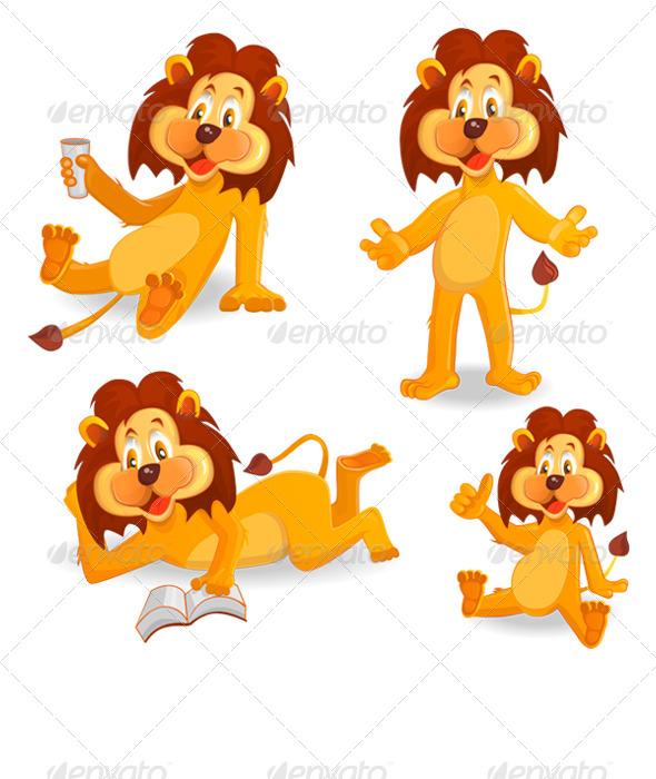 GraphicRiver Cartoon Lions 6700452