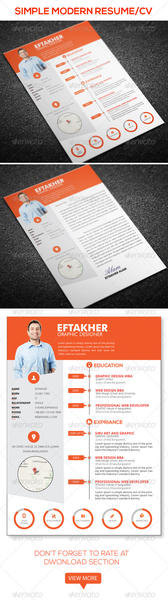GraphicRiver Simple Resume& 6700574