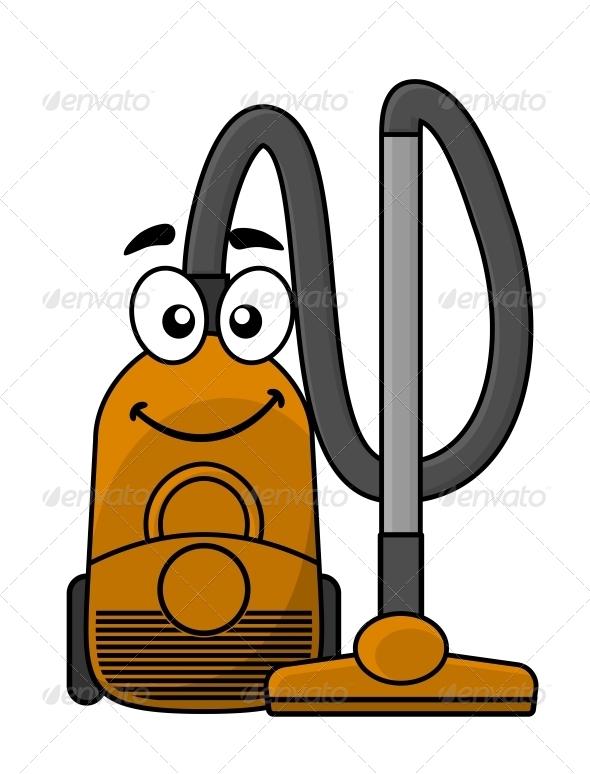 GraphicRiver Cartoon Vacuum Cleaner 6700917