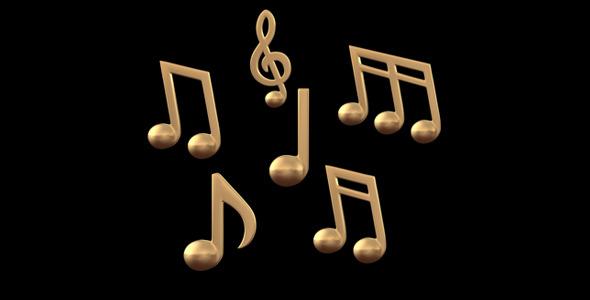 3D Music Note V3