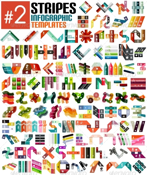 GraphicRiver Huge Set of Stripe Infographic Templates #2 6701094