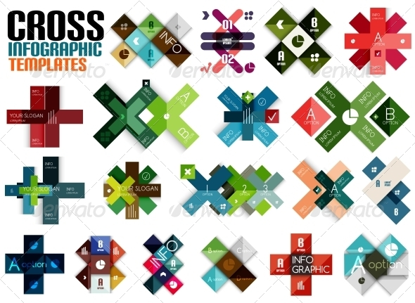GraphicRiver Huge Set of Cross Infographic Templates #2 6701096