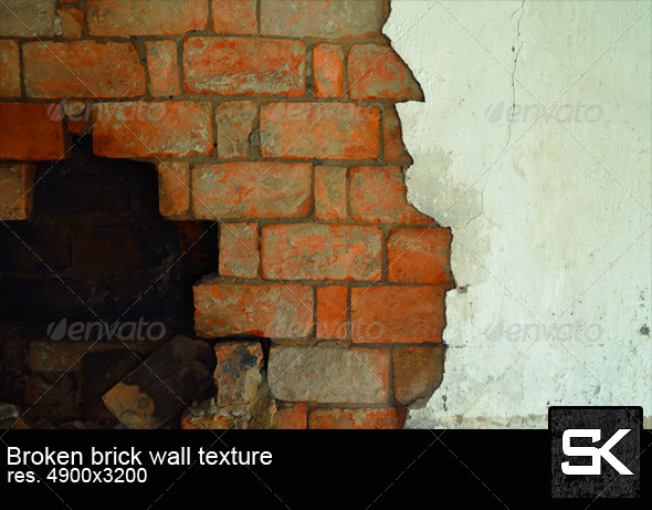 GraphicRiver Broken Brick Wall 6701148
