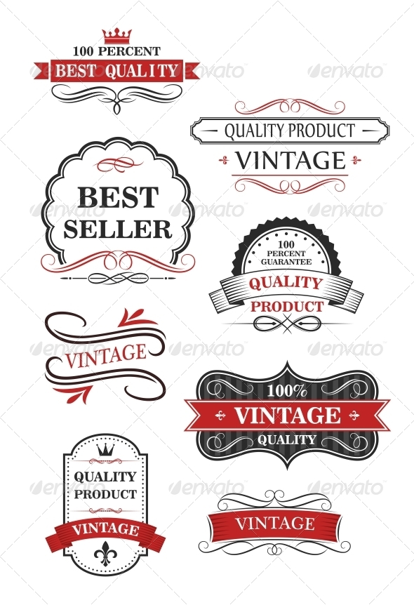 GraphicRiver Collection of Vintage Wine Labels 6701447