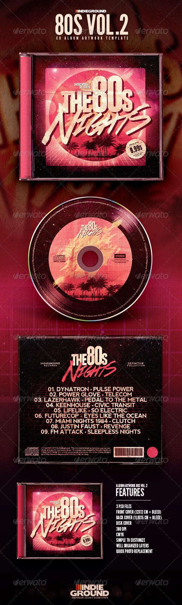 GraphicRiver 80s CD Album Artwork Vol 2 6701480