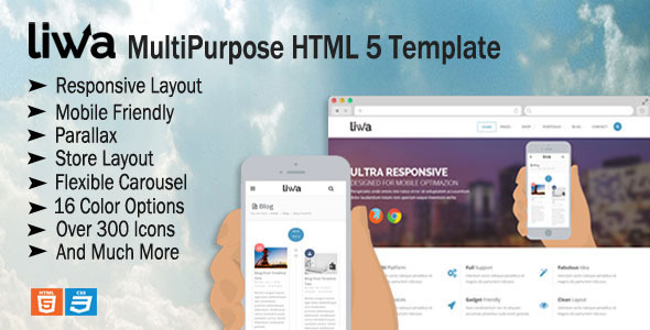ThemeForest Liwa MultiPurpose HTML 5 Template 6654080