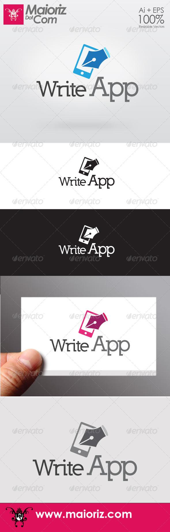 GraphicRiver Write App Logo 6701654