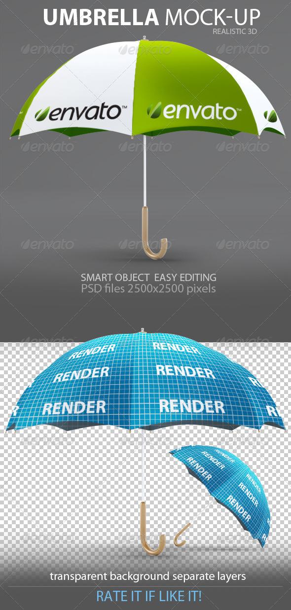 GraphicRiver Umbrella Mock-Up 6701832