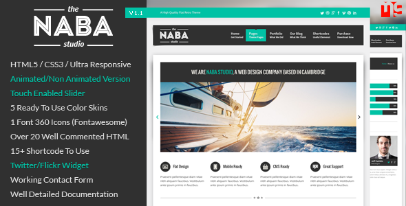 Naba - Multipurpose Business HTML Template - This is the preview for the file.