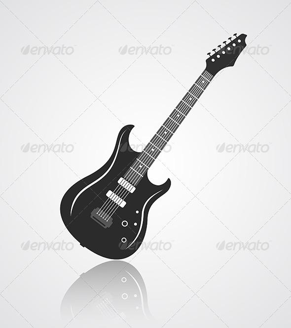 GraphicRiver Electric Guitar Icon 6702108