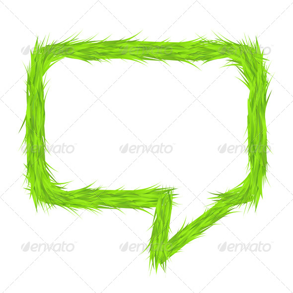 GraphicRiver Grass Speech Bubble 6702110