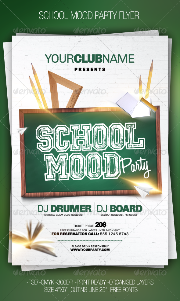 GraphicRiver School Party Flyer 6702111