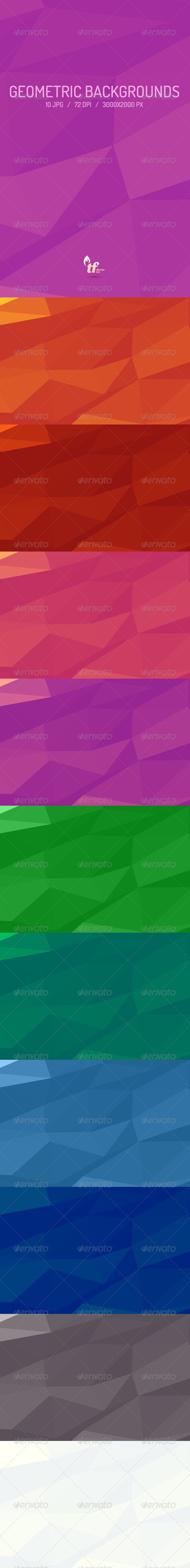 GraphicRiver Geometric Backgrounds 6689303