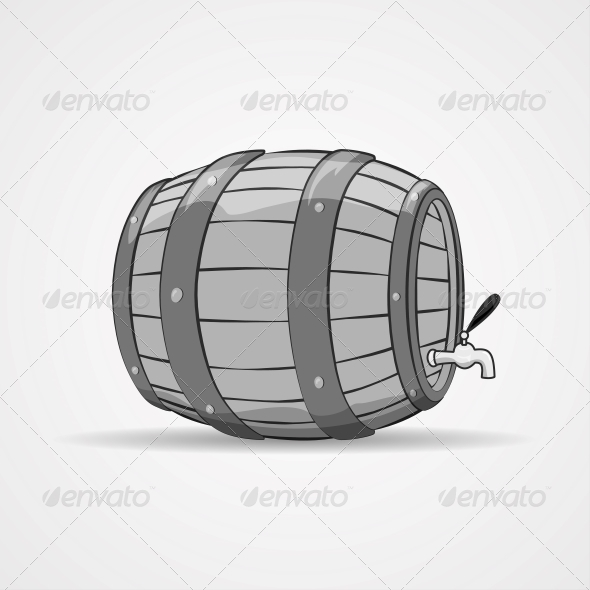 GraphicRiver Old Wooden Barrel Filled with Natural Wine or Beer 6702287