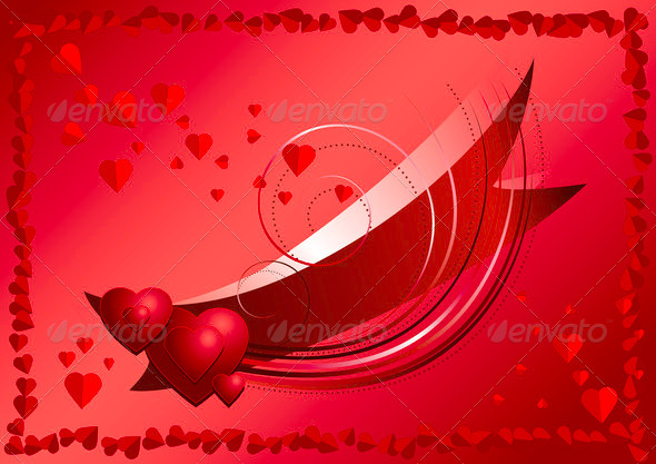 Declaration of Love on Red Background  - Stock Photo - Images