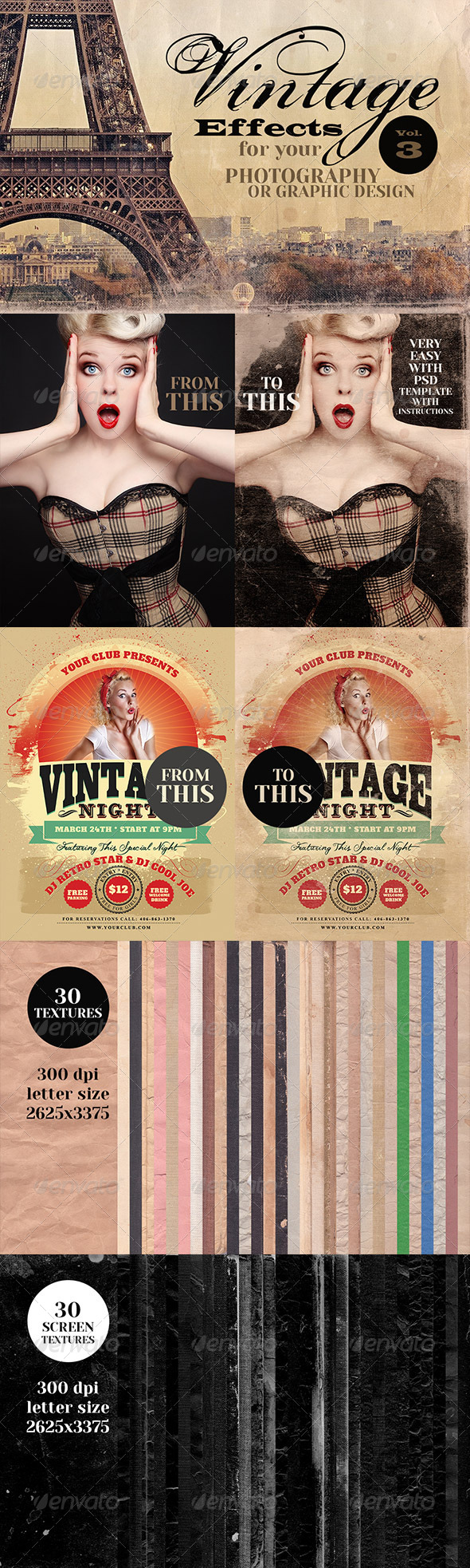 GraphicRiver Vintage Effects for Photo Designs 3 6702373