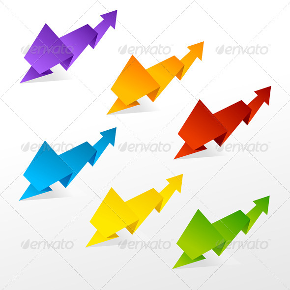 GraphicRiver Set of Colorful Arrows 6702481