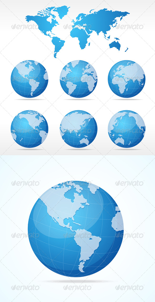 GraphicRiver Globe and Map Set 6702637