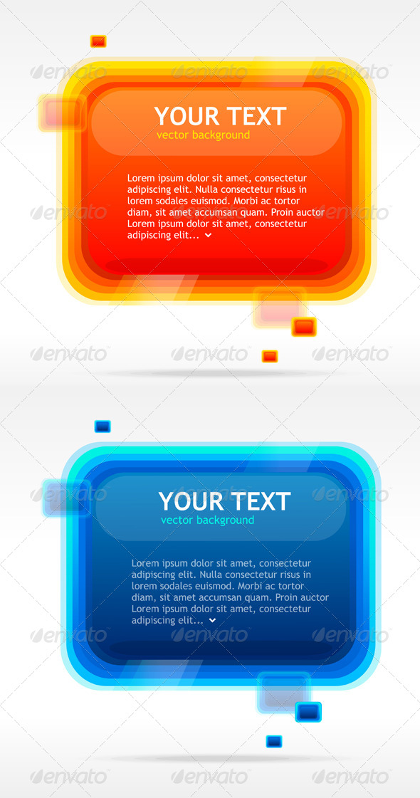 GraphicRiver Abstract Speech Bubbles Blue and Orange 6702697