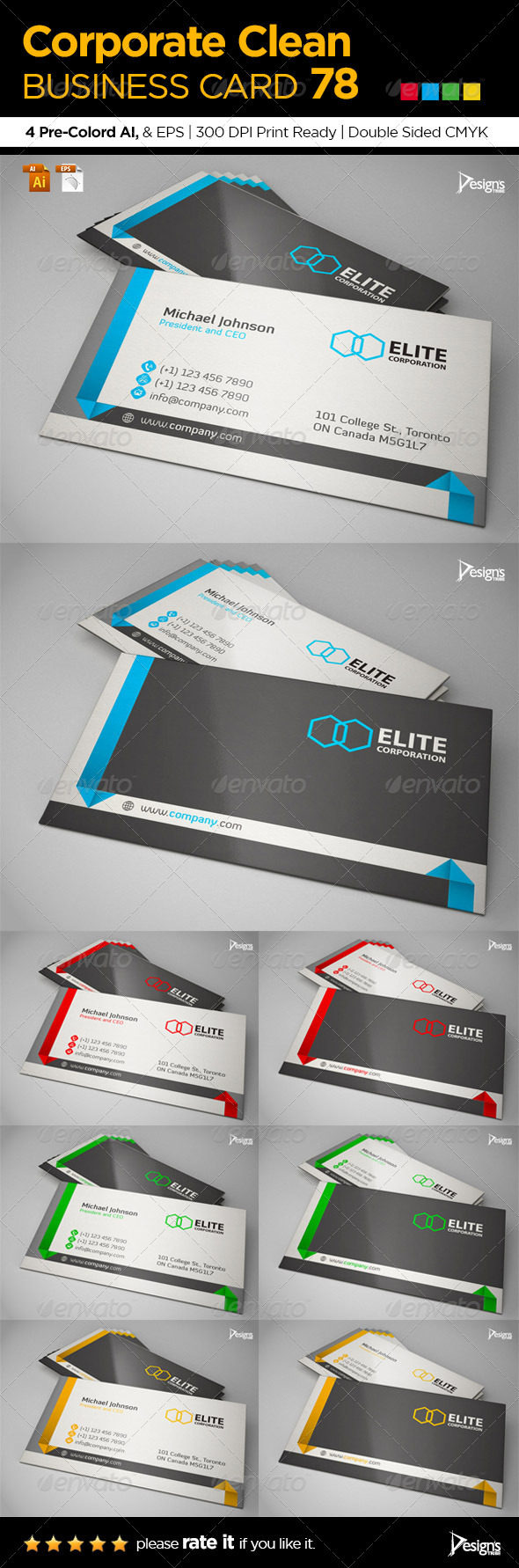 GraphicRiver Corporate Clean Business Card 78 6702707