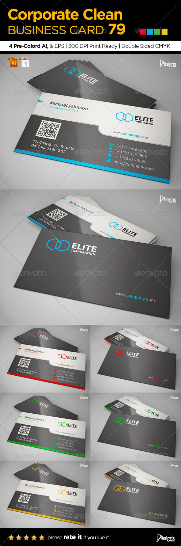 GraphicRiver Corporate Clean Business Card 79 6702764
