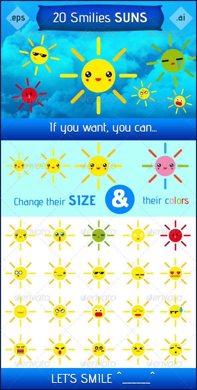 GraphicRiver Smilies Suns 6702969