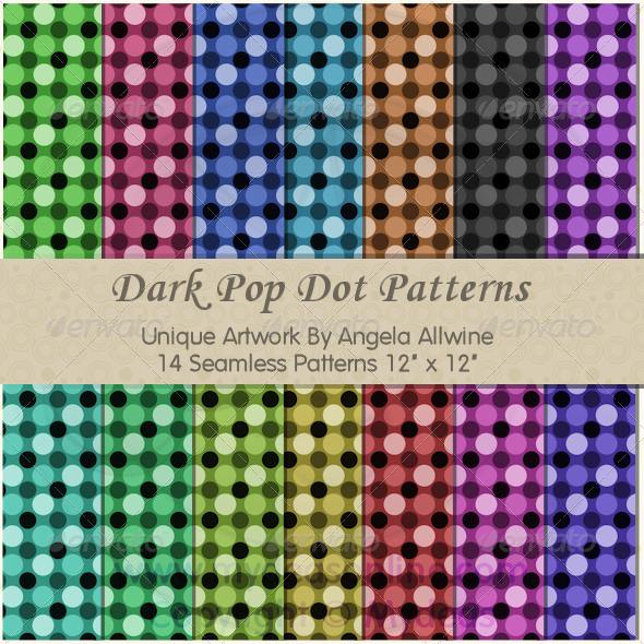 GraphicRiver Dark Pop Dots Pattern Set 6703007