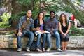 Portrait Of University Students Sitting On Campus - PhotoDune Item for Sale