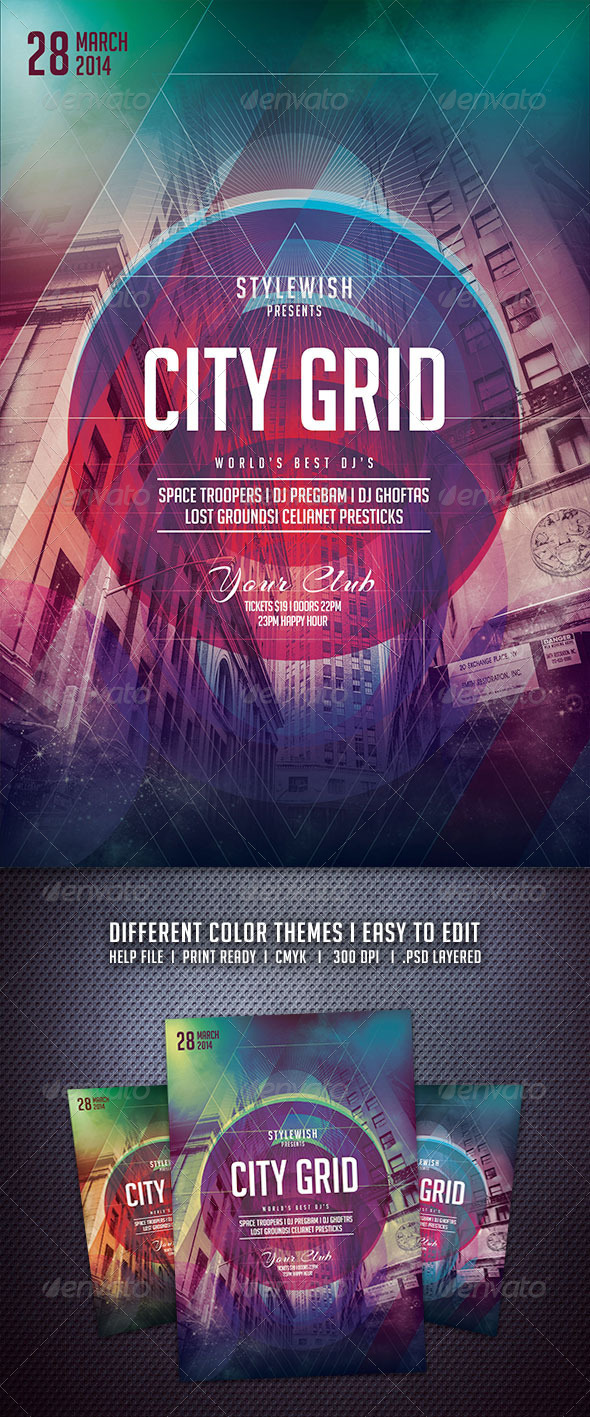 GraphicRiver City Grid Flyer 6703052
