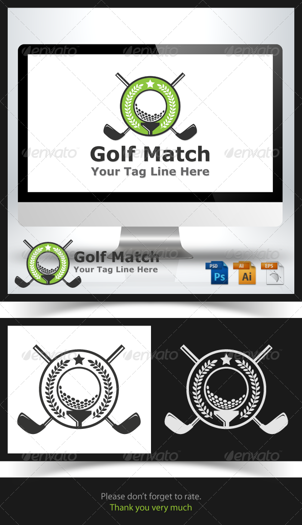 GraphicRiver Golf Match Logo 6703072