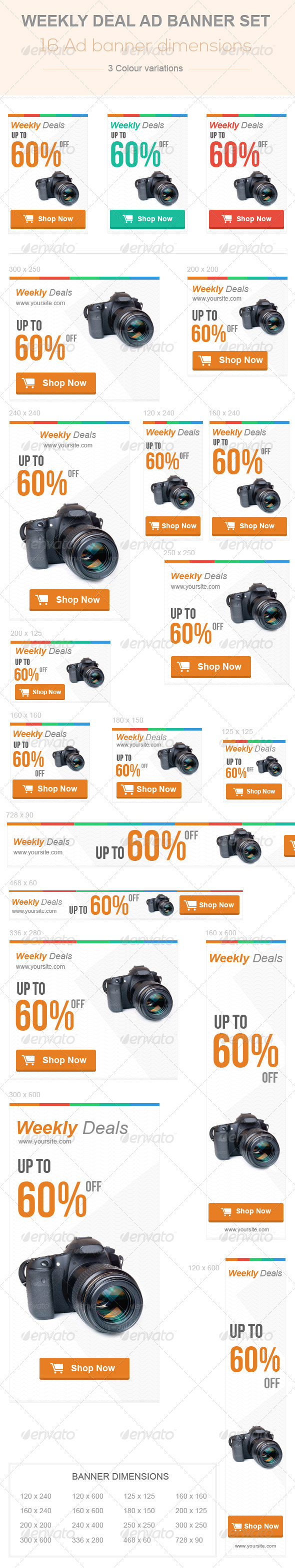GraphicRiver Weekly Deal Ad Banner set 6703076