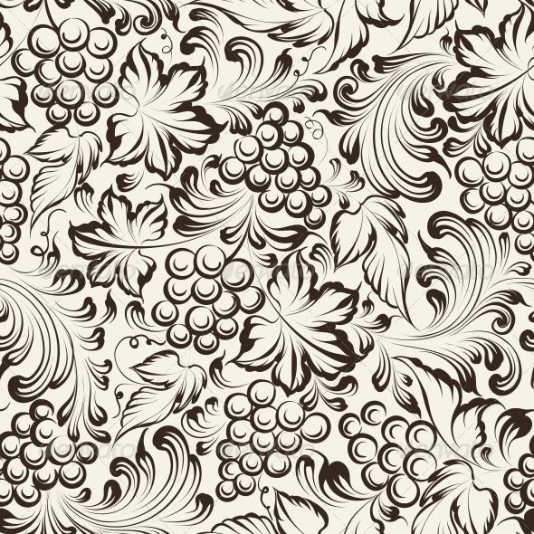 GraphicRiver Vine Seamless Background 6703104