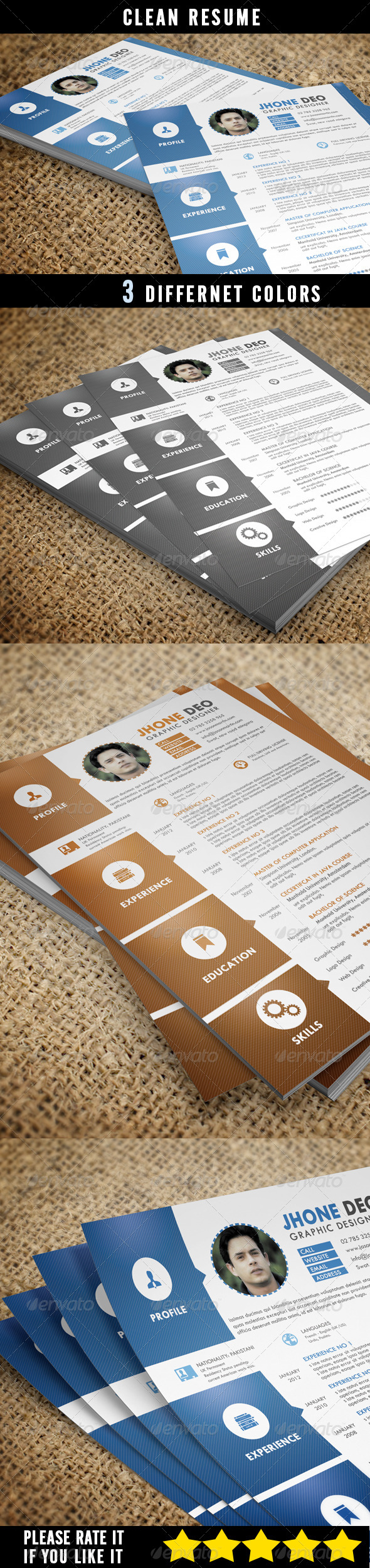 GraphicRiver Simple Resume 6694139