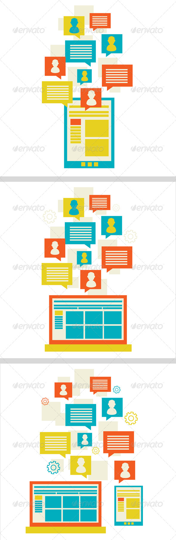 GraphicRiver Social Icon Group Element 6703178