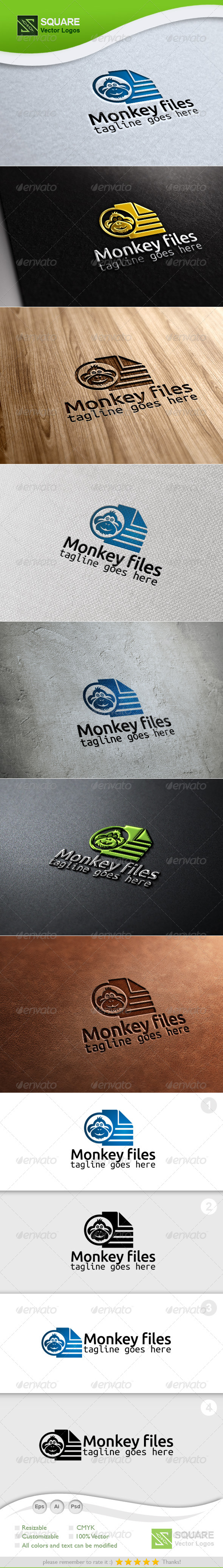 GraphicRiver Monkey Files Vector Logo Template 6694459