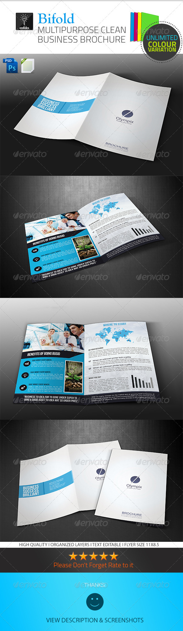 GraphicRiver A4 Business Brochure Bifold Vol01 6703203
