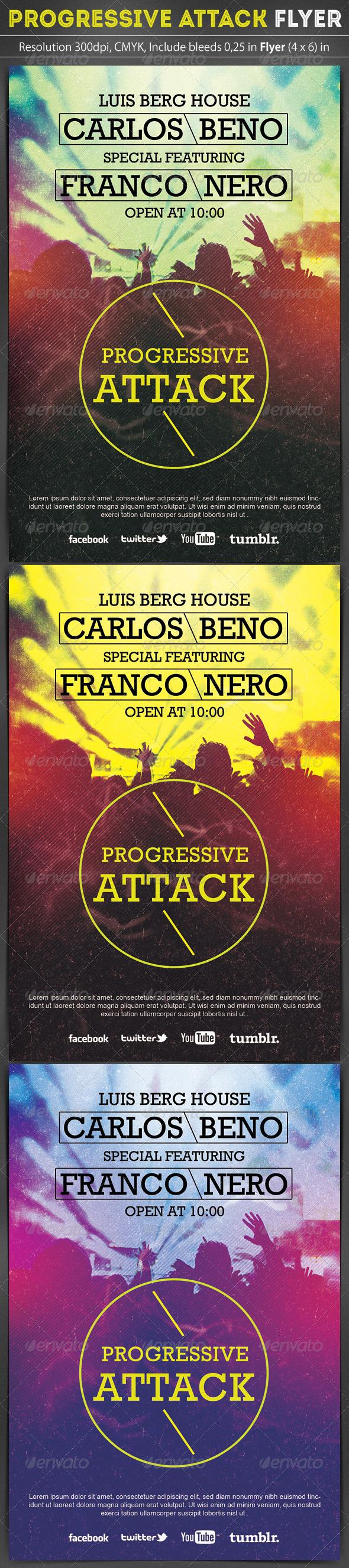 GraphicRiver Progressive Party Flyer 6696862