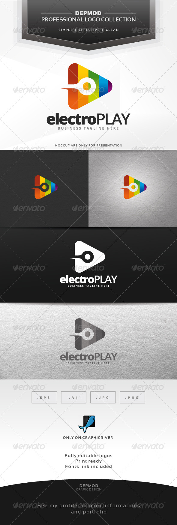GraphicRiver Electro Play Logo 6703223