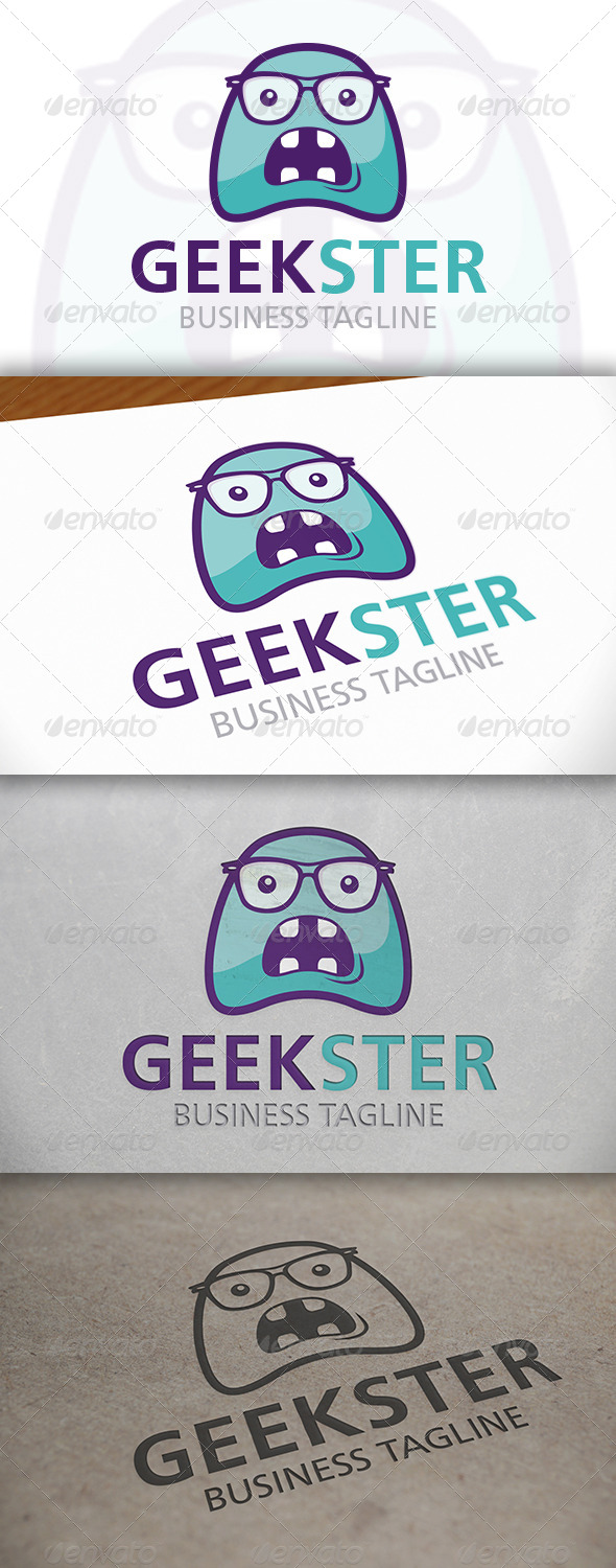 GraphicRiver Geek Monster Logo 6703362