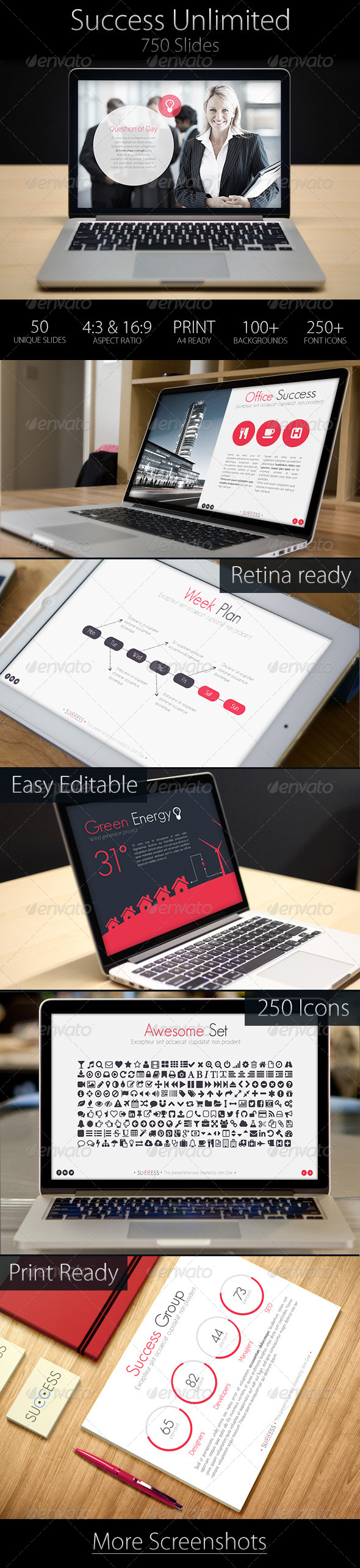 GraphicRiver 50 Slides Success Presentation 6703457