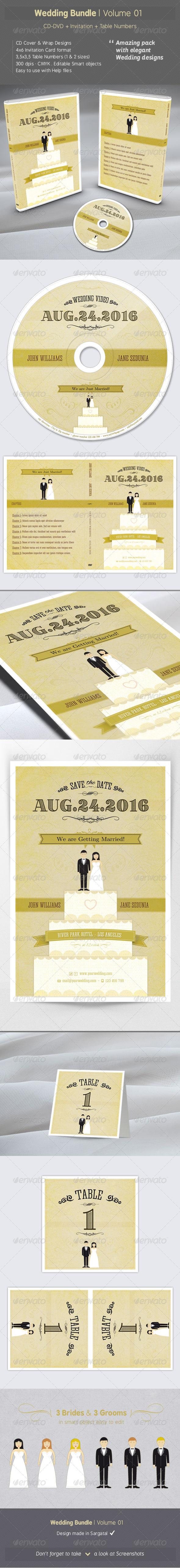 GraphicRiver Wedding Bundle Volume 01 6703474