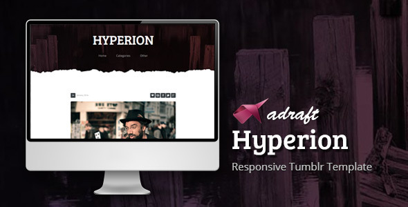 ThemeForest Hyperion Responsive Tumblr Template 6703525