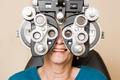 Happy Woman Having An Eye Test - PhotoDune Item for Sale
