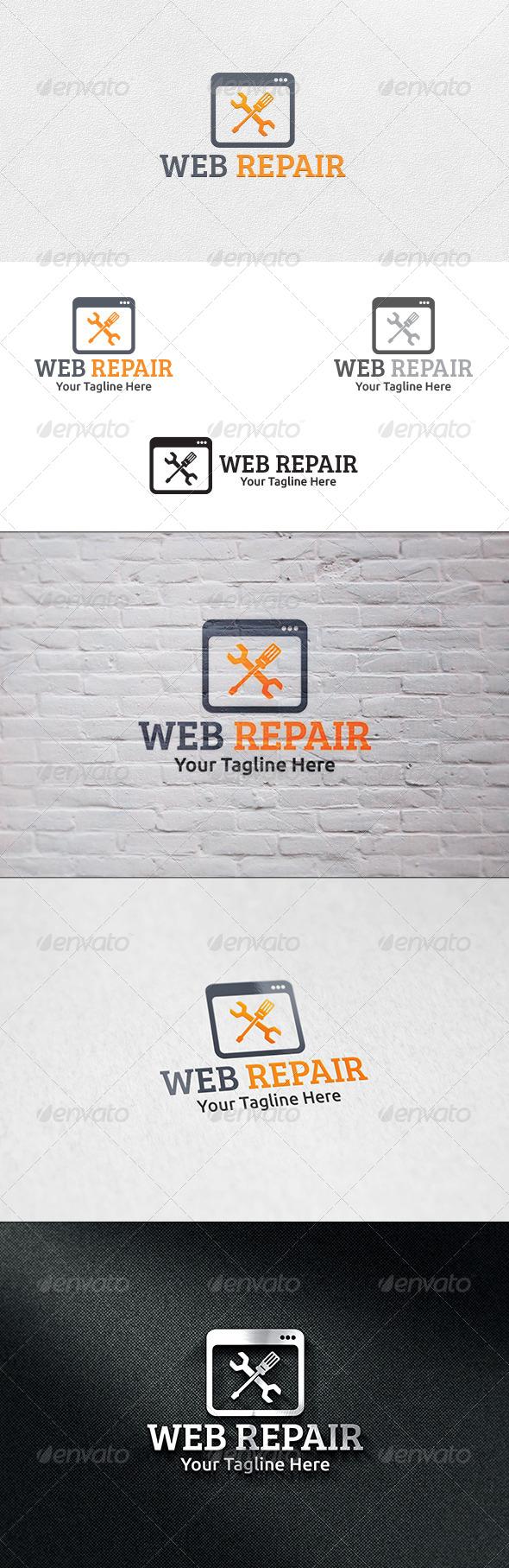 GraphicRiver Web Repair Logo Template 6703561