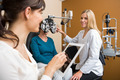Eyecare Specialist Examining Senior Woman - PhotoDune Item for Sale