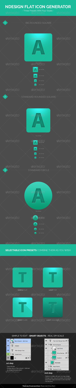 GraphicRiver Design Flat Icon Generator Template 6623159