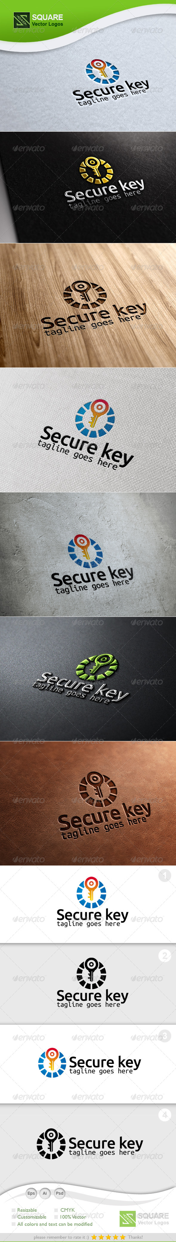 GraphicRiver Secure Key Vector Logo Template 6704114