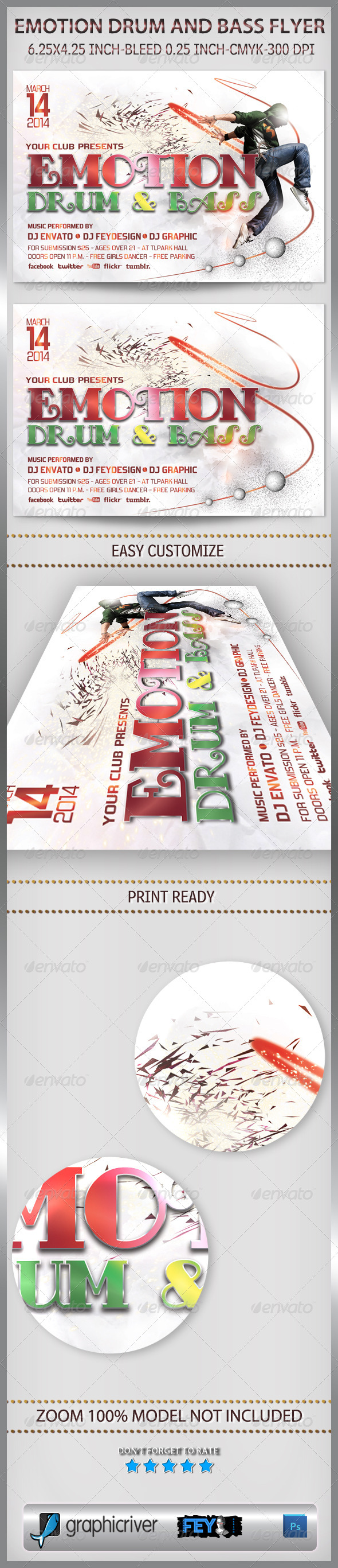 GraphicRiver Emotion Drum And Bass Flyer 6704125