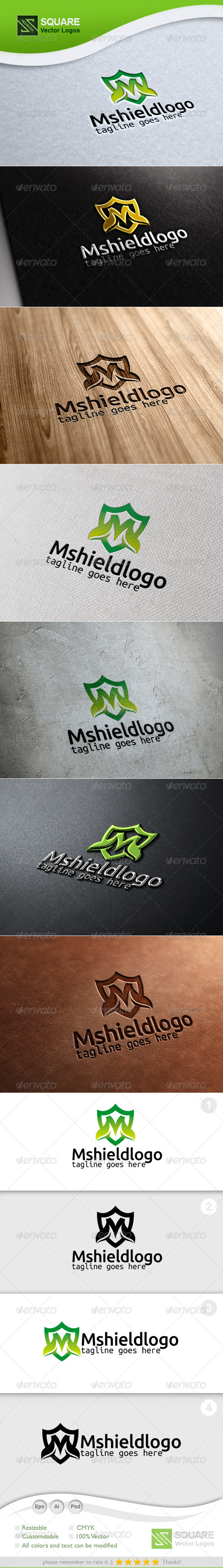 M, Shield Vector Logo Template - Letters Logo Templates