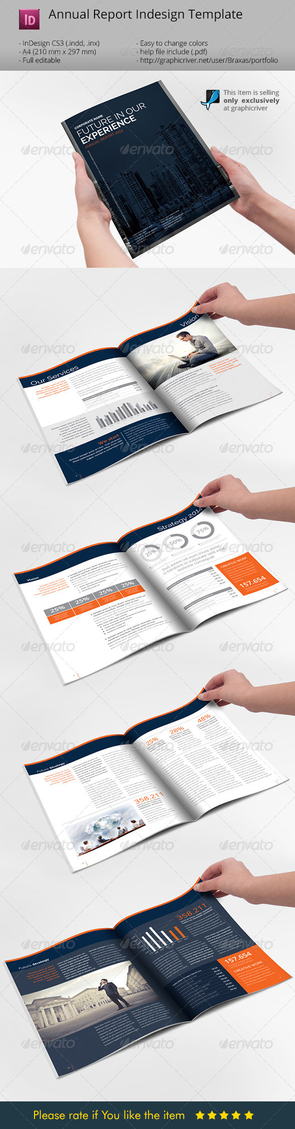 GraphicRiver Annual Report Indesign Template 6704295